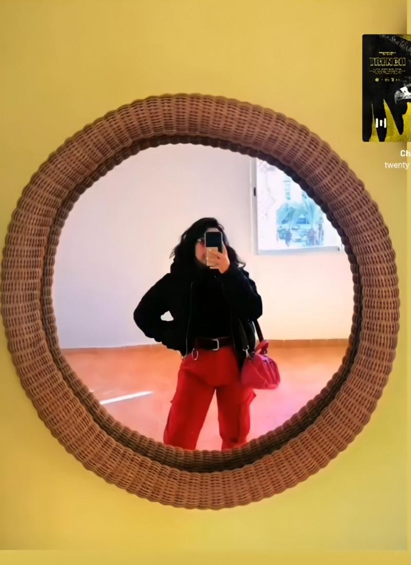 Pantalon large 40 BERSHKA