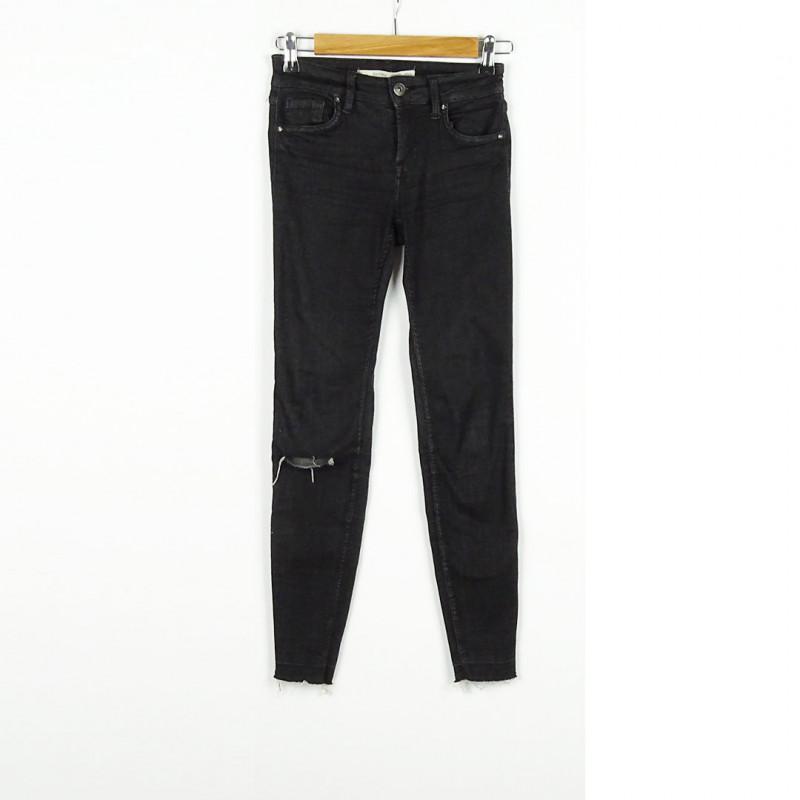 Pantalon slim 34 BERSHKA
